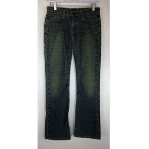 Vintage Lucky Brand Bootcut Jeans Blue Green 4 27